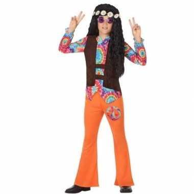Sixties/hippie verkleed carnavalskleding oranje jongens roosendaal