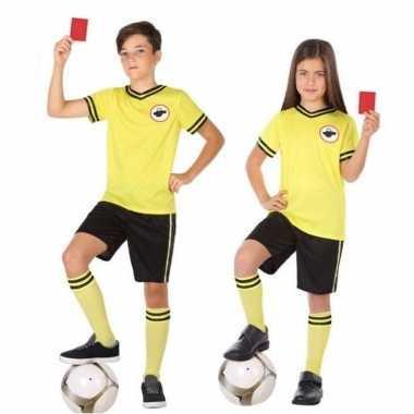 Voetbal scheidsrechter verkleed carnavalskleding kinderen roosendaal