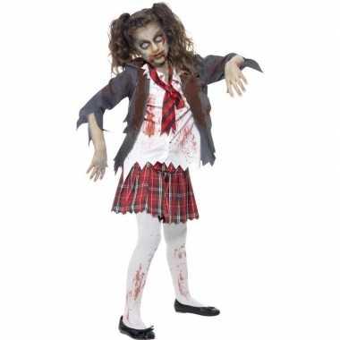 Zombie schoolmeisje carnavalskleding meisjes roosendaal