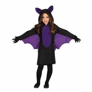 Zwart paars vleermuis carnavalskleding meisjes roosendaal