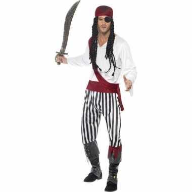 Zwart/wit piraten carnavalskleding heren roosendaal