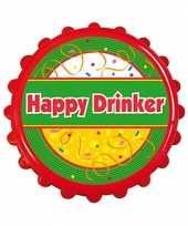 Carnavalskleding bierdop flesopener happy drinker roosendaal