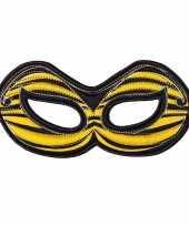 Carnavalskleding bijen oogmasker geel kinderen roosendaal