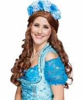 Carnavalskleding blauwe bloemen diadeem roosendaal