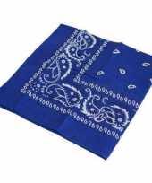 Carnavalskleding blauwe boeren zakdoek roosendaal