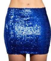 Carnavalskleding blauwe glitter pailletten disco rokje dames roosendaal