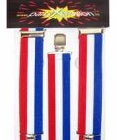 Carnavalskleding bretels rood wit blauw roosendaal