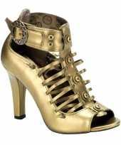 Carnavalskleding bronzen sandaal pumps victoria roosendaal
