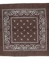 Carnavalskleding bruine bandana zakdoek roosendaal