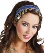 Carnavalskleding buikdanseres hoofdband diadeem kobalt blauw dames verkleedaccess roosendaal