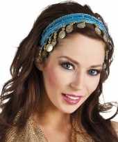 Carnavalskleding buikdanseres hoofdband diadeem turquoise blauw dames verkleedacc roosendaal