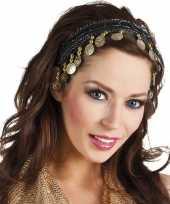 Carnavalskleding buikdanseres hoofdband diadeem zwart dames verkleedaccessoire roosendaal