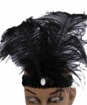 Carnavalskleding charleston hoofdband veren roosendaal