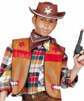 Carnavalskleding cowboy hesje bruin kinderen roosendaal