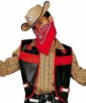Carnavalskleding cowboy hesje zwart kinderen roosendaal