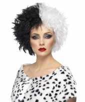Carnavalskleding cruella pruik dames roosendaal