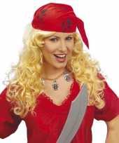 Carnavalskleding dames piraten pruik bandana roosendaal