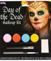 Carnavalskleding day of the dead schmink set dames roosendaal