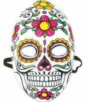 Carnavalskleding day of the dead sugarskull gezichtsmasker dames roosendaal