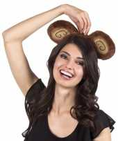 Carnavalskleding diadeem bruine apenoren volwassenen roosendaal