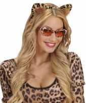 Carnavalskleding diadeem luipaard oren roosendaal