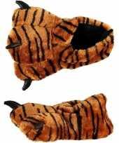 Carnavalskleding dierenpoot sloffen tijger kinderen roosendaal