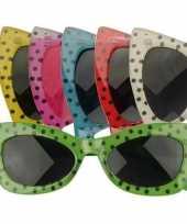 Carnavalskleding disco polkadot bril roosendaal