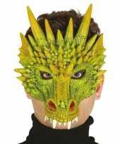 Carnavalskleding draak draken horror masker foam roosendaal