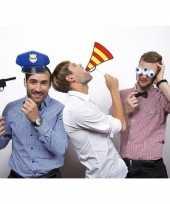 Carnavalskleding foto prop set politie roosendaal