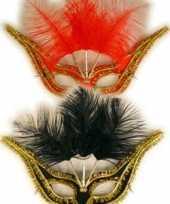 Carnavalskleding gala oogmasker veertjes roosendaal