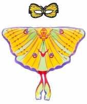 Carnavalskleding gele komeetstaart vlinder verkleedset meisjes roosendaal