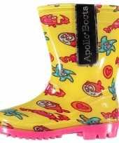 Carnavalskleding gele peuter regenlaarzen zeedieren roosendaal