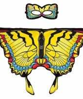 Carnavalskleding gele zwaluwstaart vlinder verkleedset meisjes roosendaal