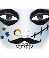 Carnavalskleding gezicht stickers piraat vel roosendaal