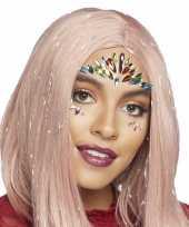 Carnavalskleding gezichtsjuwelen exotische prinses verkleedset zelfklevend roosendaal
