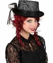 Carnavalskleding gothic hoge hoed kant roosendaal