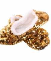 Carnavalskleding gouden bling pantoffels dames roosendaal