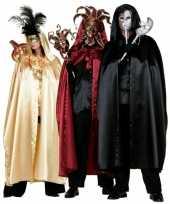 Carnavalskleding gouden satijnen cape volwassenen roosendaal