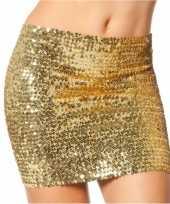 Carnavalskleding gouden top rok pailletten roosendaal