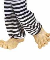 Carnavalskleding grote vinyl nep voeten roosendaal