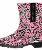 Carnavalskleding halfhoge dames regenlaarzen zebra roosendaal