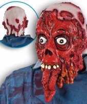 Carnavalskleding halloween bloederig masker lange tong roosendaal