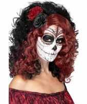 Carnavalskleding halloween day of the dead pruik roos roosendaal