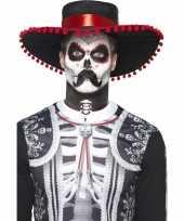 Carnavalskleding halloween day of the dead schmink set el senor roosendaal