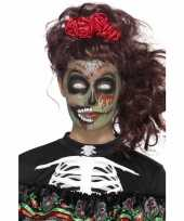 Carnavalskleding halloween day of the dead schmink set zombie roosendaal