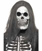 Carnavalskleding halloween doodshoofd masker haar roosendaal