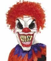 Carnavalskleding halloween eng clown masker haar roosendaal