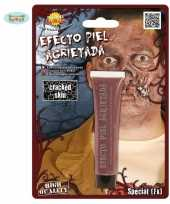 Carnavalskleding halloween gebarsten huid schmink gram roosendaal