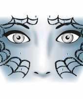 Carnavalskleding halloween gezicht stickers spinnenweb vel roosendaal