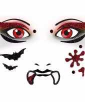 Carnavalskleding halloween gezicht stickers vampier vel roosendaal